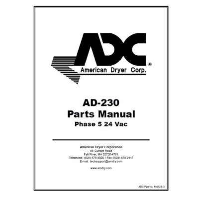 AD-230 PARTS MANUAL 24 VAC
