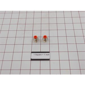 NIPPLE,1 / 4INX4MM FOR BURKERT VALVE