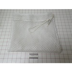 """24""""X24"""" MESH LAUNDRY BAG, .25"""" OPENINGS, WITH CORD"""